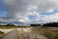 Voie par les dunes Photographie stock libre de droits