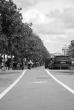 Voie pour bicyclettes à Cluj Napoca, Roumanie Photo stock