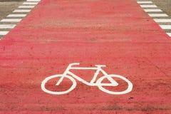 Voie pour bicyclettes. Photo stock