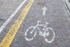 Voie pour bicyclettes Photo libre de droits