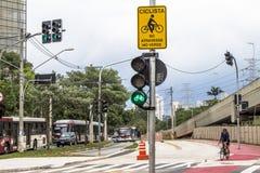 Voie pour bicyclettes Images libres de droits