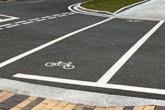 Voie pour bicyclettes et jonction Photo libre de droits