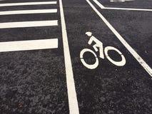 Voie pour bicyclettes pour vous Images libres de droits