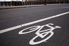 Voie pour bicyclettes sur le rouan à Paris, France Images libres de droits