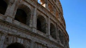 Voie tirée sur le colosseum, Rome Italie banque de vidéos