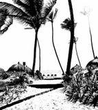 Voie vers la République Dominicaine d'océan images stock