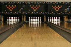 Voies #3 de bowling photographie stock