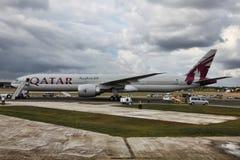 Voies aériennes du Qatar Photographie stock
