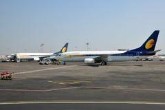 Voies aériennes d'avion à réaction Photo stock