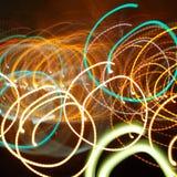 Voies chaotiques des lumières instantanées Images libres de droits