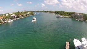 Voies d'eau de la Floride du sud banque de vidéos
