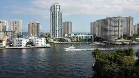 Voies d'eau du nord de Miami Images libres de droits