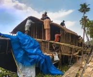 Voies d'eau et bateaux du Kerala Photos libres de droits