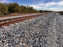 Voies de chemin de fer à l'infini Image libre de droits