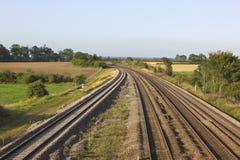 Voies de chemin de fer Image libre de droits