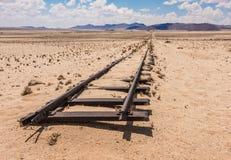 Voies de chemin de fer abandonnées dans le désert, Namibie photos libres de droits