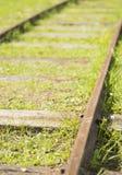 Voies de chemin de fer démodées Photographie stock