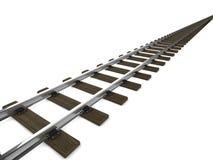 voies de chemin de fer 3d Photos libres de droits