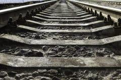 Voies de chemin de fer vides Image libre de droits