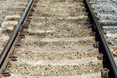 Voies de chemin de fer vides Photos stock