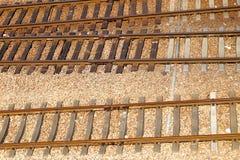 Voies de chemin de fer vides image stock