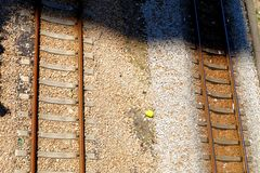 Voies de chemin de fer vides photographie stock libre de droits