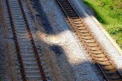 Voies de chemin de fer vides photo stock