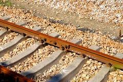 Voies de chemin de fer vides photo libre de droits