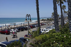Voies de plage et de train de San Clemente California Images stock