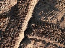 Voies de roue dans la boue Photo libre de droits