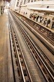 Voies de train de Chicago Image libre de droits