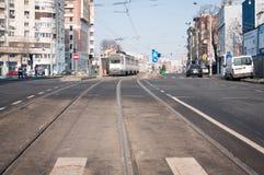 Voies de tram photographie stock libre de droits