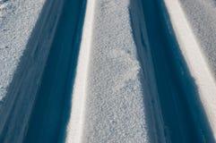 Voies des skis Photographie stock
