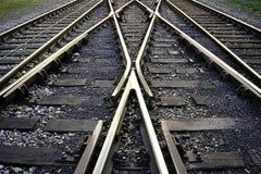 Voies ferroviaires Images libres de droits