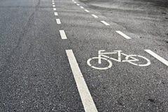 Voies pour bicyclettes photo libre de droits