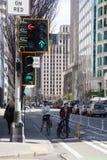 Voies pour bicyclettes, nouvelle exécution Images libres de droits