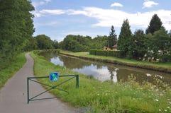 Voies Verte周期路线和签到伯根地 库存图片