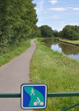 Voies Verte cycle route and sign in Burgundy Royalty Free Stock Image