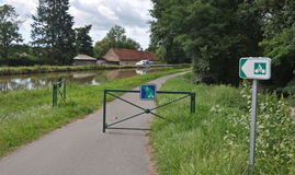 Voies Verte cycle route and sign in Burgundy Stock Photography