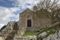 Ancient Venetian church at the Venetian village of Voila. Crete Greece royalty free stock photo