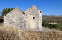Voila medeltida bosättning på Crete Royaltyfri Fotografi