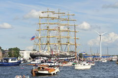 Voile Amsterdam, Kruzenshtern (Russie) Image stock