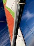 Voile avec un ciel bleu Photographie stock libre de droits