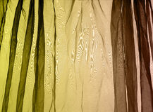 Voile curtain background green brown Stock Photography
