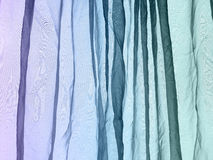 Voile curtain background purple blue green Stock Images