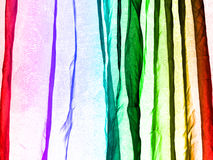 Voile curtain background rainbow colors Royalty Free Stock Photo