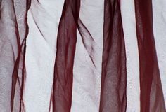 Voile curtain bordeaux red Stock Photo