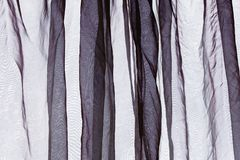 Voile curtain dark gray background Royalty Free Stock Photo