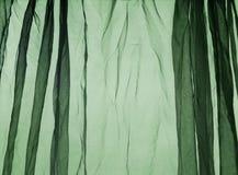Voile curtain dark green Stock Photo