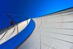 Voile d'un bateau à voile Images libres de droits
